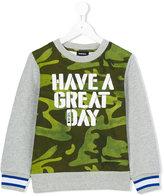 Diesel Great Day sweatshirt - kids - Cotton/Polyester - 2 yrs