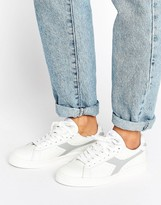 Diadora Game Low Sneakers In White & Gray