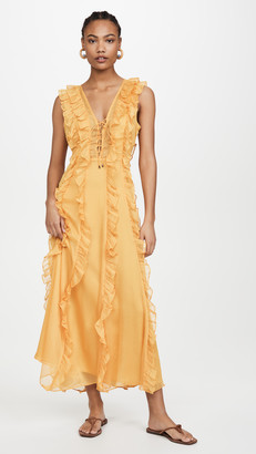 Endless Rose Ruffle Detailed Midi Dress