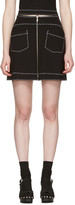 McQ by Alexander McQueen Black Contrast Stitch Miniskirt