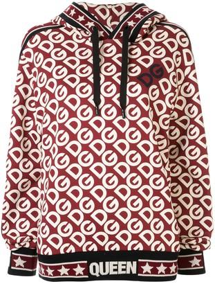 Dolce & Gabbana loose-fit logo-print hoodie