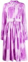 MSGM pinstriped tie-dye shirt dress