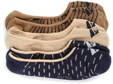 Sperry Men's 3-Pack Cushioned No-Show Socks