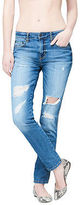 Aeropostale Womens Girlfriend Destroyed Dark Wash Jean