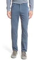 Bugatchi Slim Straight Leg Herringbone Stretch Cotton Pants