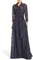 Rickie Freeman For Teri Jon Burnout Shirtdress Gown