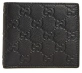 Gucci Men's Logo Embossed Calfskin Leather Wallet - Black