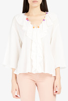 Paul & Joe Jelly Chiffon Ruffled Shirt