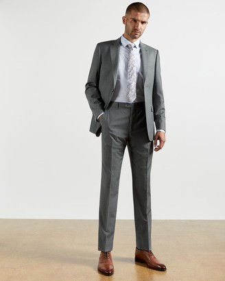 Ted Baker Checked Wool Suit Trousers