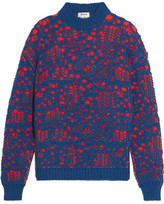 Acne Studios Open-knit Wool-blend Sweater - Navy