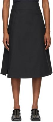 Jil Sander Black Pique Structured Skirt