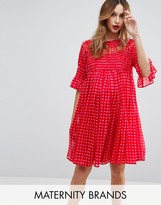 Asos Gingham Smock Dress with Shirring Detail