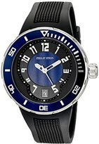 Philip Stein Teslar Men's 34-BBL-RB Active Extreme Stainless Steel Watch with Textured Rubber Band