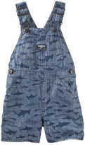 Osh Kosh Shark Print Chambray Shortalls