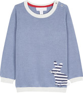 The Little White Company Bunny knitted cotton jumper 0-24 months
