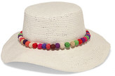 Sensi Studio - Pompom-embellished Toquilla Straw Panama Hat - White