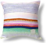 Kristi Kohut Sugared Stripe 18x18 Linen Pillow