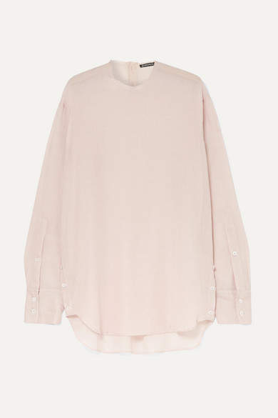 Ann Demeulemeester Oversized Cotton And Cashmere-blend Blouse - Pink