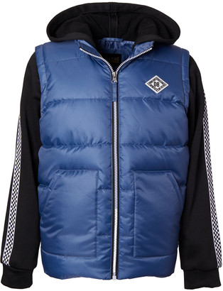 iXtreme Boys' Puffer Coats BLUE - Blue Hooded Puffer Coat - Infant & Toddler