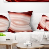 """Abstract Agate with Chalcedony Geological Crystal Pillow East Urban Home Size: 16"""" x 16"""", Product Type: Throw Pillow, Color: Orange"""