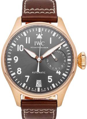 IWC Gray 18K Rose Gold Big Pilot's Watch Spitfire IW5009-17 Men's Wristwatch 46 MM