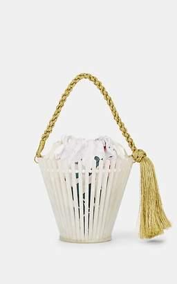 Montunas Women's Trellis Lirio Flower Pot Mini Bucket Bag - White