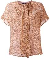 Etro floral print pussy bow blouse