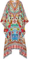 Camilla Close To My Heart Convertible Embellished Printed Silk-crepe Kaftan