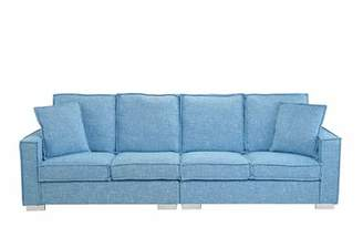 Hubert Modern Low Frame Sofa Orren Ellis Upholstery Color: Light Blue
