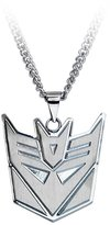 Transformers Decepticons Logo Stainless Steel Pendant Necklace