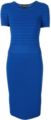 Emporio Armani Ribbed Fitted Dress