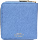 Smythson Panama medium zip wallet