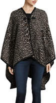 MIXIT Mixit Leopard Print Toggle Cold Weather Wrap