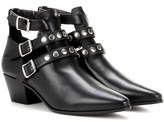 Saint Laurent Rock 40 leather ankle boots