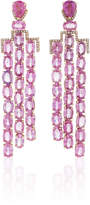 Nina Runsdorf M'O Exclusive One-Of-A-Kind Pink Sapphire Art Deco Style Earrings