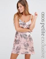 Asos Floral Print Mini Satin Cami Dress