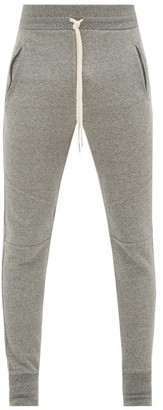 John Elliott Escobar Loop-back Cotton Jersey Track Pants - Dark Grey