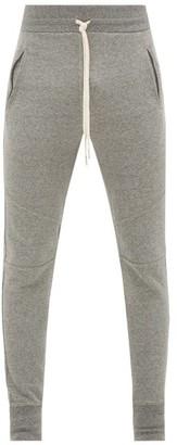 John Elliott Escobar Loop-back Cotton Jersey Track Pants - Mens - Dark Grey