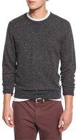 Brunello Cucinelli Donegal Crewneck Sweatshirt, Charcoal