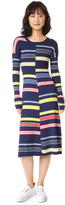 Kenzo Colorblock Striped Dress