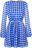 Dvf Diane Von Furstenberg gingham print cinched waist dress