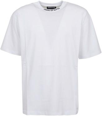 Vision of Super White T-shirt White Skull And Red Star