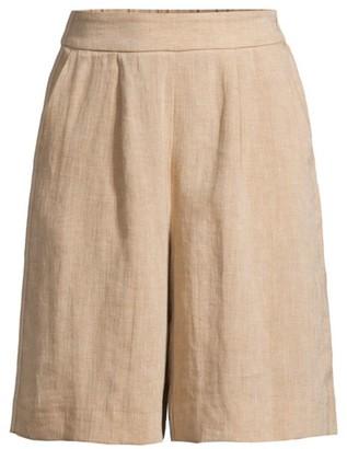 Peserico Pleat Linen Dress Shorts
