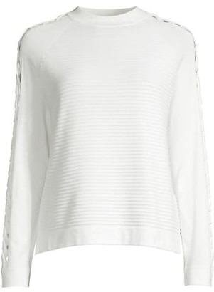 Emporio Armani Cutout Rib-Knit Top