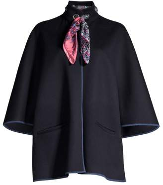Etro Scarf Collar Wool & Angora Jacket