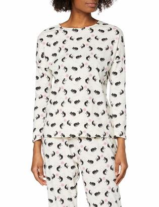 People Tree Peopletree Women's Cat Print Pyjama Long Sleeve Top