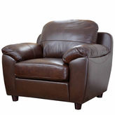 Asstd National Brand Aria Leather Pad-Arm Chair