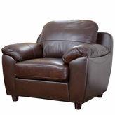 Asstd National Brand Aria Leather Pad-Arm Chair