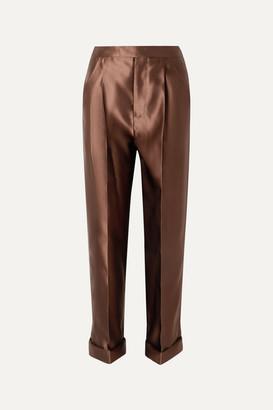 Tom Ford Silk-satin Pants - Brown