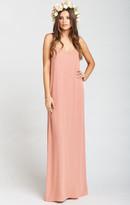 MUMU Jolie Maxi Dress ~ Rustic Mauve Crisp